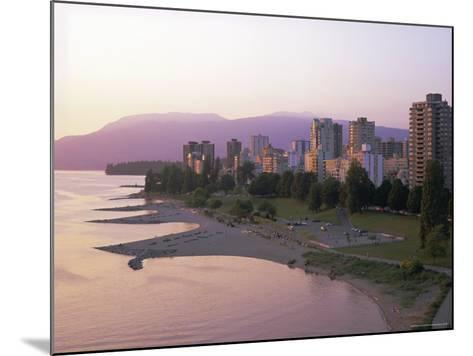 Evening Light on Sunset Beach Park in English Bay, British Columbia, Canada-Pearl Bucknell-Mounted Photographic Print