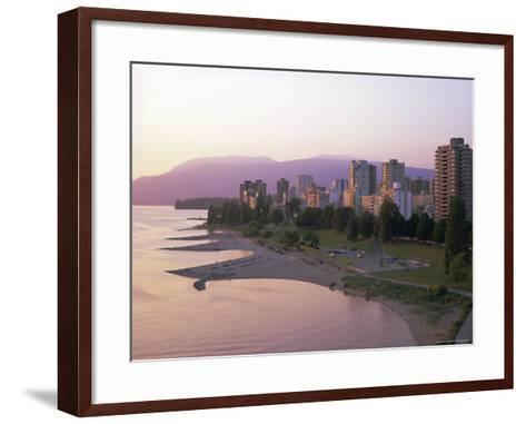 Evening Light on Sunset Beach Park in English Bay, British Columbia, Canada-Pearl Bucknell-Framed Art Print