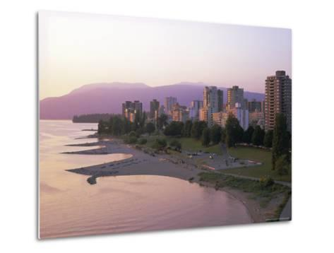 Evening Light on Sunset Beach Park in English Bay, British Columbia, Canada-Pearl Bucknell-Metal Print