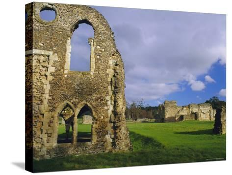 South Gabled End of the Lay Brothers Refectory and Remains of the Church Beyond, Surrey, England-Pearl Bucknell-Stretched Canvas Print