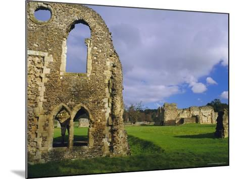 South Gabled End of the Lay Brothers Refectory and Remains of the Church Beyond, Surrey, England-Pearl Bucknell-Mounted Photographic Print