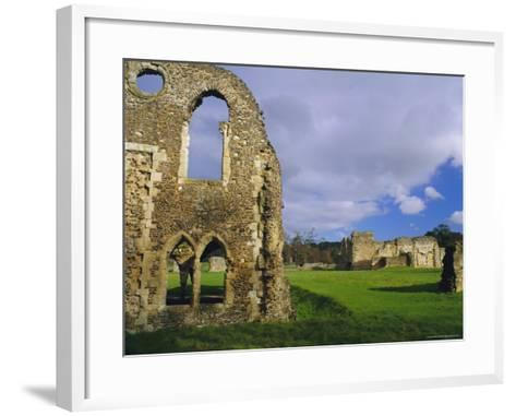 South Gabled End of the Lay Brothers Refectory and Remains of the Church Beyond, Surrey, England-Pearl Bucknell-Framed Art Print