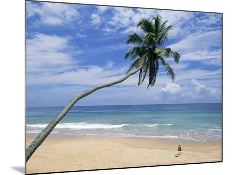 Palm Tree and Surfer, Hikkaduwa Beach, Island of Sri Lanka, Indian Ocean, Asia-Yadid Levy-Mounted Photographic Print