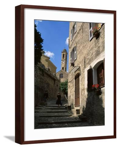 Corte, Corsica, France, Europe-Yadid Levy-Framed Art Print