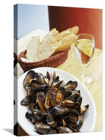 A Plate of Mussels, Glasgow, Scotland, United Kingdom, Europe-Yadid Levy-Stretched Canvas Print