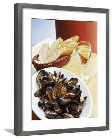 A Plate of Mussels, Glasgow, Scotland, United Kingdom, Europe-Yadid Levy-Framed Art Print