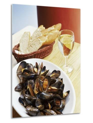 A Plate of Mussels, Glasgow, Scotland, United Kingdom, Europe-Yadid Levy-Metal Print