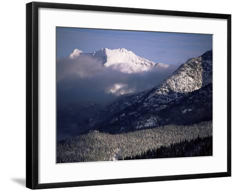 Looking West from the Top of Whistler, Whistler, British Columbia, Canada, North America-Aaron McCoy-Framed Art Print