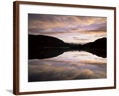 Pond Reflection and Clouds at Dawn, Kristiansand, Norway, Scandinavia, Europe-Jochen Schlenker-Framed Art Print