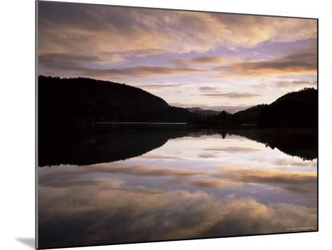 Pond Reflection and Clouds at Dawn, Kristiansand, Norway, Scandinavia, Europe-Jochen Schlenker-Mounted Photographic Print