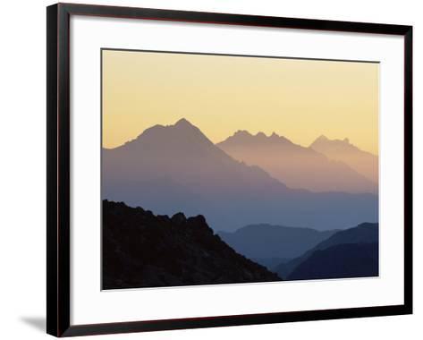 Chamonix Valley in Early Morning Sun, Chamonix, French Alps, France, Europe-Jochen Schlenker-Framed Art Print