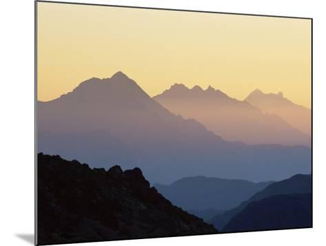Chamonix Valley in Early Morning Sun, Chamonix, French Alps, France, Europe-Jochen Schlenker-Mounted Photographic Print