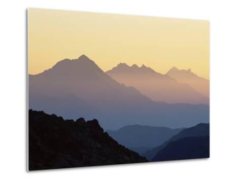 Chamonix Valley in Early Morning Sun, Chamonix, French Alps, France, Europe-Jochen Schlenker-Metal Print