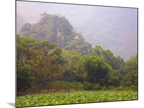 Hill with Chinese Pavillons, Yangshuo Park, Yangshuo, Guangxi Province, China, Asia-Jochen Schlenker-Mounted Photographic Print