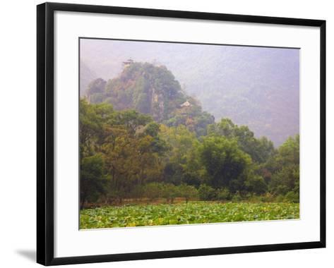 Hill with Chinese Pavillons, Yangshuo Park, Yangshuo, Guangxi Province, China, Asia-Jochen Schlenker-Framed Art Print