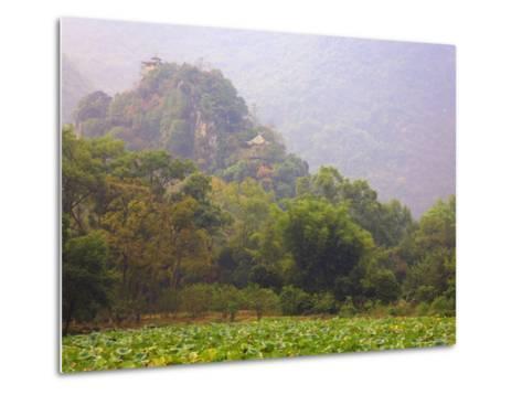 Hill with Chinese Pavillons, Yangshuo Park, Yangshuo, Guangxi Province, China, Asia-Jochen Schlenker-Metal Print