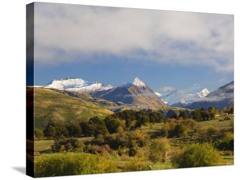 Rob Roy Peak and Mount Aspiring, Wanaka, Central Otago, South Island, New Zealand, Pacific-Jochen Schlenker-Stretched Canvas Print
