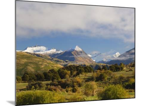 Rob Roy Peak and Mount Aspiring, Wanaka, Central Otago, South Island, New Zealand, Pacific-Jochen Schlenker-Mounted Photographic Print