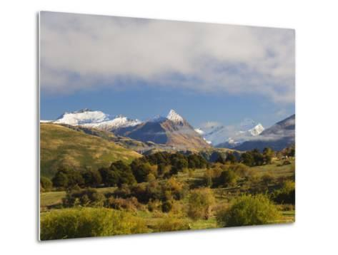 Rob Roy Peak and Mount Aspiring, Wanaka, Central Otago, South Island, New Zealand, Pacific-Jochen Schlenker-Metal Print