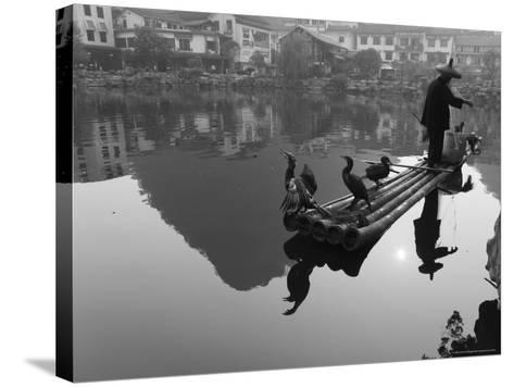 Cormorant Fisherman, Yangshuo, Guangxi Province, China, Asia-Jochen Schlenker-Stretched Canvas Print