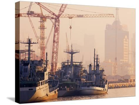 Boats on the Huangpu River, Shanghai, China, Asia-Jochen Schlenker-Stretched Canvas Print