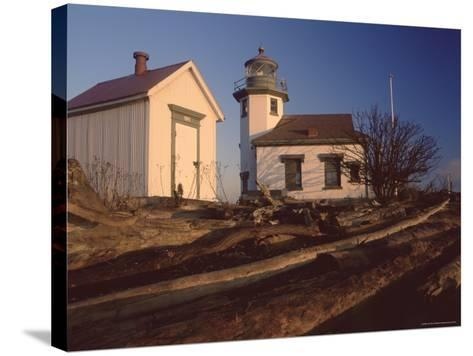 Point Robinson Lighthouse, Vashon Island, Washington State, United States of America, North America-Colin Brynn-Stretched Canvas Print