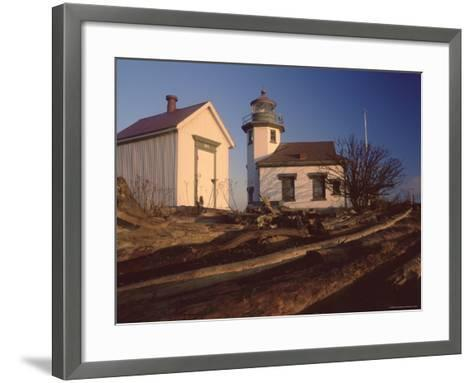 Point Robinson Lighthouse, Vashon Island, Washington State, United States of America, North America-Colin Brynn-Framed Art Print