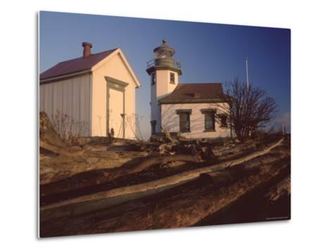 Point Robinson Lighthouse, Vashon Island, Washington State, United States of America, North America-Colin Brynn-Metal Print