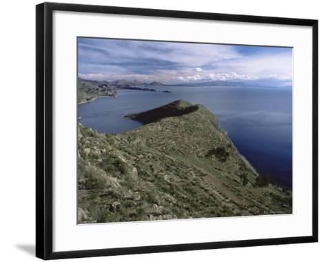 Landscape, Isla Del Sol, Lago Titicaca (Lake Titicaca), Bolivia, South America-Colin Brynn-Framed Art Print