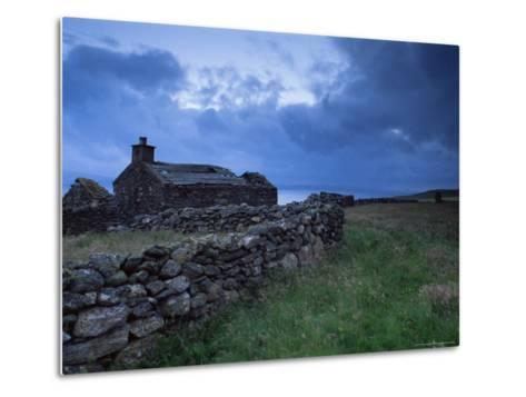 Ruined Croft at Sound, Yell, Shetland Islands, Scotland, United Kingdom, Europe-Patrick Dieudonne-Metal Print