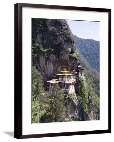 Taktshang Goemba (Tiger's Nest) Monastery, Paro, Bhutan, Asia-Angelo Cavalli-Framed Art Print