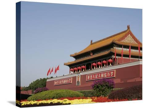 The Heavenly Gate to the Forbidden City, Tiananmen Square, Beijing (Peking), China, Asia-Angelo Cavalli-Stretched Canvas Print