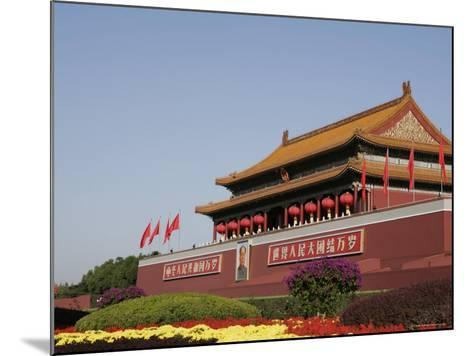 The Heavenly Gate to the Forbidden City, Tiananmen Square, Beijing (Peking), China, Asia-Angelo Cavalli-Mounted Photographic Print