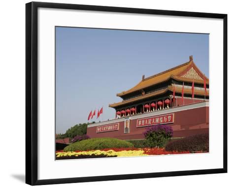 The Heavenly Gate to the Forbidden City, Tiananmen Square, Beijing (Peking), China, Asia-Angelo Cavalli-Framed Art Print