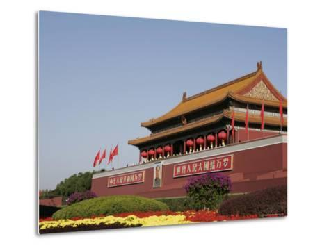 The Heavenly Gate to the Forbidden City, Tiananmen Square, Beijing (Peking), China, Asia-Angelo Cavalli-Metal Print
