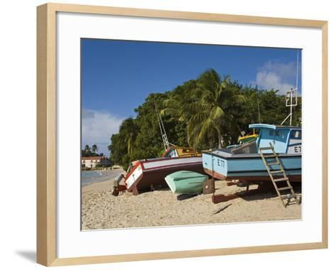 Fishing Boats, Port St. Charles, Speightstown, Barbados, West Indies, Caribbean, Central America-Richard Cummins-Framed Art Print