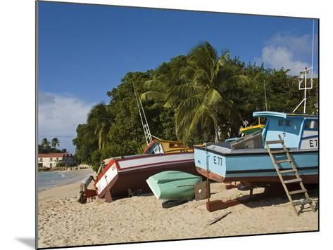 Fishing Boats, Port St. Charles, Speightstown, Barbados, West Indies, Caribbean, Central America-Richard Cummins-Mounted Photographic Print