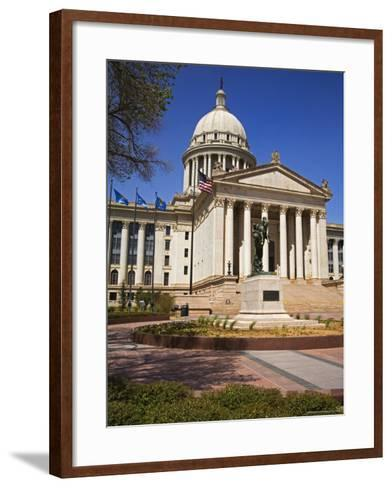 State Capitol Building, Oklahoma City, Oklahoma, United States of America, North America-Richard Cummins-Framed Art Print