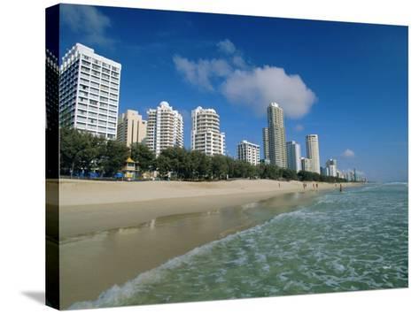 Surfers Paradise Beach, Gold Coast, Queensland, Australia-Robert Francis-Stretched Canvas Print