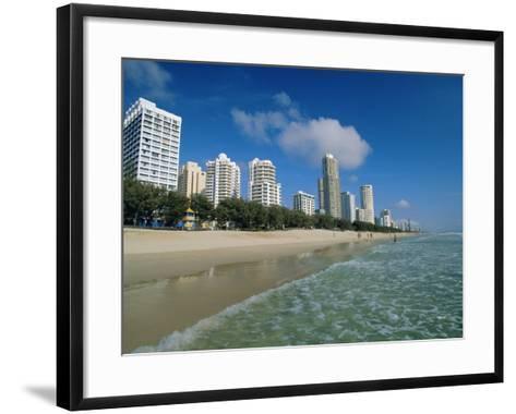 Surfers Paradise Beach, Gold Coast, Queensland, Australia-Robert Francis-Framed Art Print