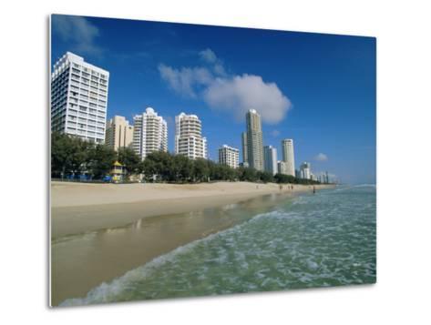 Surfers Paradise Beach, Gold Coast, Queensland, Australia-Robert Francis-Metal Print