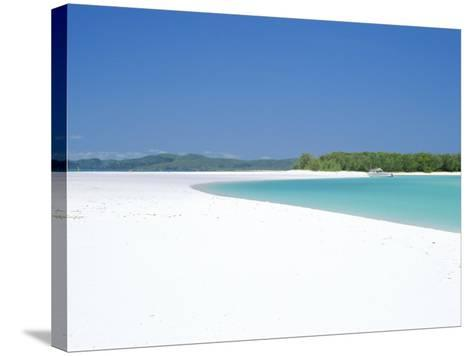 Whitehaven Beach on the East Coast, Whitsunday Island, Queensland, Australia-Robert Francis-Stretched Canvas Print