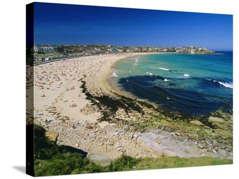 Bondi Beach, One of the City's Southern Ocean Suburbs, Sydney, New South Wales, Australia-Robert Francis-Stretched Canvas Print