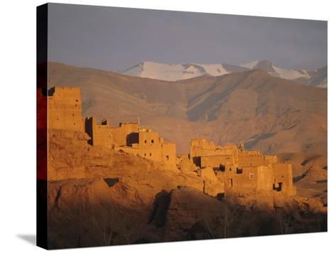 Kasbah Near El Kelaa M'Gouna, Dades Valley, High Atlas Mountains, Morocco, North Africa-Bruno Morandi-Stretched Canvas Print