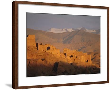 Kasbah Near El Kelaa M'Gouna, Dades Valley, High Atlas Mountains, Morocco, North Africa-Bruno Morandi-Framed Art Print