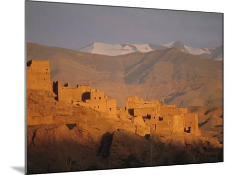 Kasbah Near El Kelaa M'Gouna, Dades Valley, High Atlas Mountains, Morocco, North Africa-Bruno Morandi-Mounted Photographic Print