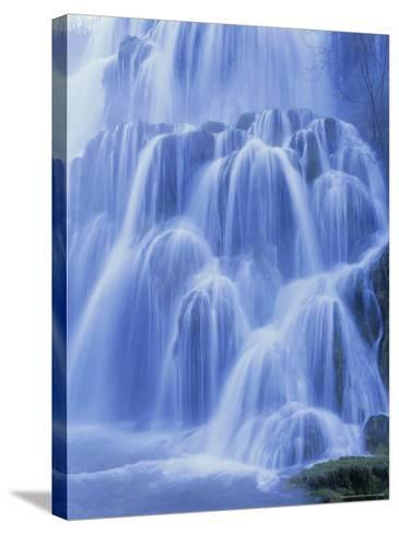 Waterfall, Les Messieurs, Jura-Baume, Franche-Comte, France, Europe-Bruno Morandi-Stretched Canvas Print