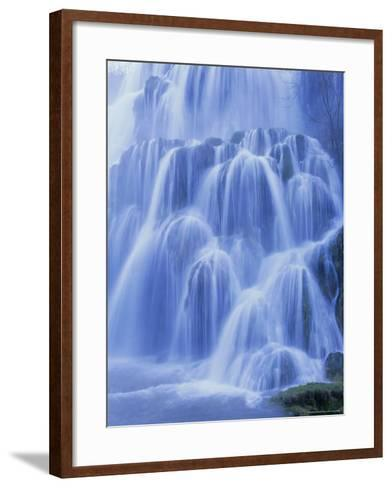 Waterfall, Les Messieurs, Jura-Baume, Franche-Comte, France, Europe-Bruno Morandi-Framed Art Print