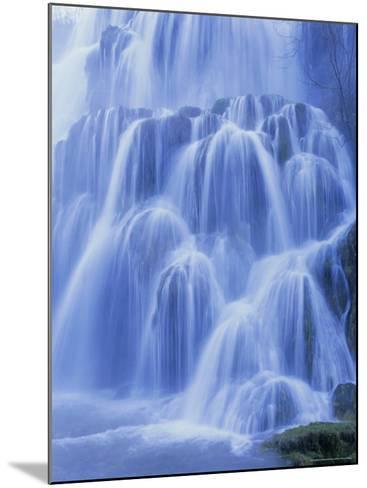 Waterfall, Les Messieurs, Jura-Baume, Franche-Comte, France, Europe-Bruno Morandi-Mounted Photographic Print