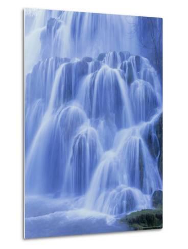 Waterfall, Les Messieurs, Jura-Baume, Franche-Comte, France, Europe-Bruno Morandi-Metal Print